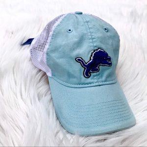 NFL Women Pastel Slouch Baseball Cap Detroit Lions